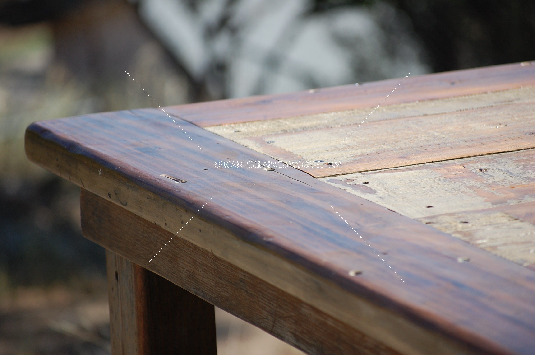 """Reclaimed wood dining table 67"""""""