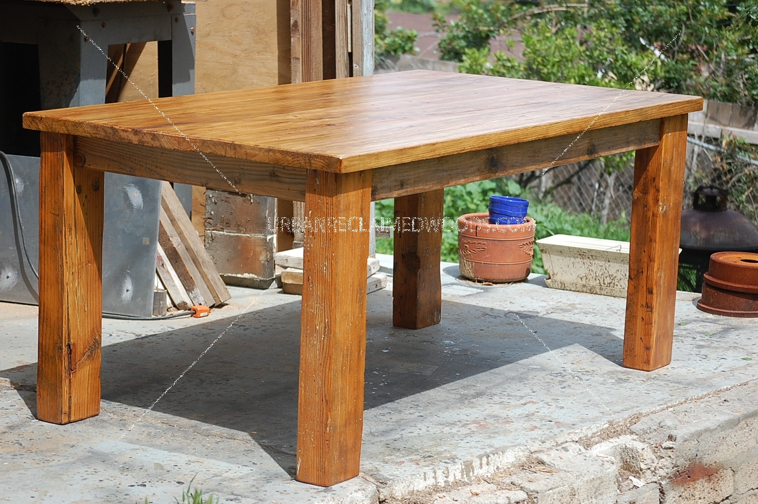 "Dining table -Rustic, handcrafted 100% reclaimed wood- 66"" x 38"" 30"" tall"