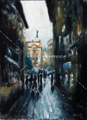 venice dark alley-oil 2008